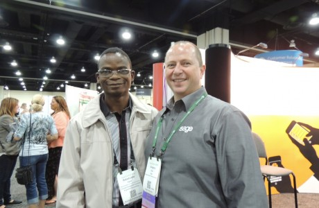 Tunde Ajala with Gregory A. Dyer, Manager, Partner & Support Training & Education, Sage North America