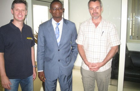 Tunde Ajala with Cobus, MD & David, ED of Pilgrims Africa Ltd