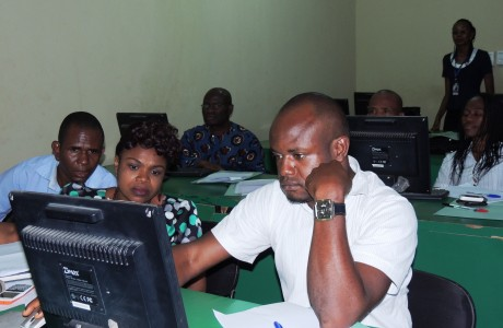 Michael Opara University, Umudike Bursary staff. Cross section of attendees at Sage Fixed Assets Software training